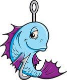 Fische auf einem Haken. lizenzfreie abbildung