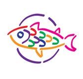 Fische auf Platte stockfotos