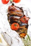 Fische in der Folie stockfotografie