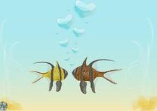 Fische in der Liebe Stockfotografie