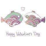 Fische in der Liebe Stockbild