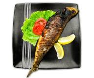 Fische in der Platte Lizenzfreies Stockfoto