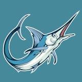 Fische des blauen Speerfisches, Vektorgraphik vektor abbildung