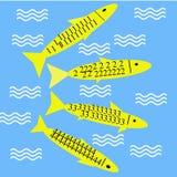 Fische, die in Wasser 1234 genießen lizenzfreie abbildung
