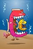 Fische, die Zyklus essen Stockfoto