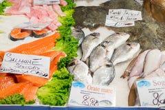 Fische in einem Markt stockfoto