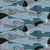 Fische in einem Netz Stockbild