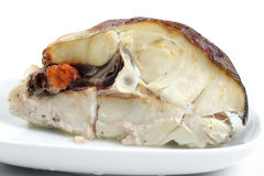 Fische gebacken im Ofen Lizenzfreies Stockfoto