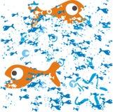 Fische im Vektor lizenzfreie abbildung