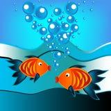 Fische im Wasser lizenzfreie abbildung