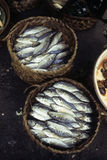 Fische am kambodschanischen Markt Phnom Penh, Kambodscha Lizenzfreies Stockfoto