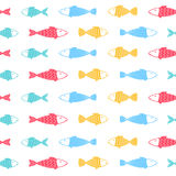 Fische kopieren auf weißem Hintergrund Stockbild