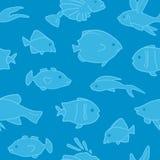 Fische kopieren nahtloses Lizenzfreies Stockfoto