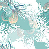 Fische, Meerespflanzen, Luftblasen Lizenzfreies Stockbild