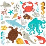 Fische, Meerespflanzen, Luftblasen Stockfotografie