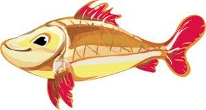 Fische. Mehrfarbige, helle, glückliche kleine Fische. Stockfotos
