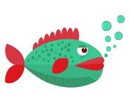 Fische mit Blasen Fische auf einem weißen Hintergrund Auch im corel abgehobenen Betrag Fische auf einem weißen Hintergrund Auch i Stockfotografie