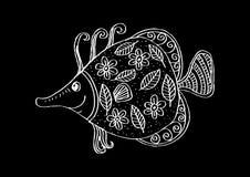 Fische mit dekorativer Verzierung Lizenzfreie Stockbilder
