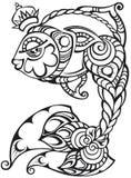 Fische mit der Krone, dekorativ lizenzfreie abbildung