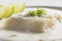 Fische mit Soße Lizenzfreies Stockfoto