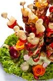 Fische shashlik Buffetart Stockfotos
