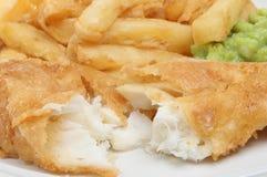 Fische u. Chips Lizenzfreie Stockfotografie