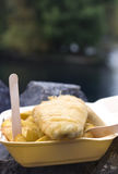 Fische u. Chips Stockfoto