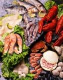 Fische u. Meeresfrüchte Stockbilder