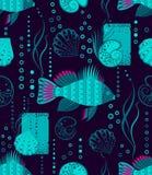 Fische und Muscheln Stockbilder