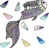Fische und Schnecken Lizenzfreie Stockfotos