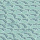Fische und Wellen, nahtloses Muster Vektor Abbildung