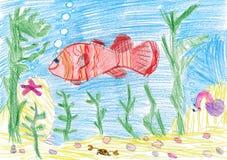 unterwasserzeichnung vektor abbildung. illustration von landschaft - 12405076