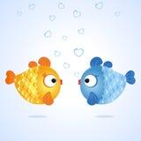 Fische zwei Lizenzfreies Stockbild