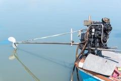 Fischen-Bootsmotor und Boots-Propeller Stockfotos