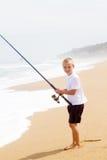 Fischen des kleinen Jungen Lizenzfreies Stockbild