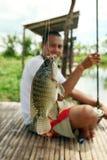 Fischen Fishpond stockbilder