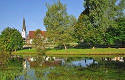 Fischen im Allgaeu, oberes Bayern, Deutschland Lizenzfreies Stockbild