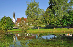 Fischen im Allgaeu,Upper Bavaria,Germany Royalty Free Stock Image