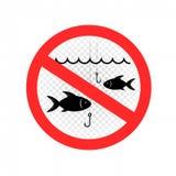 Fischen ist verbotene Zeichenikone vektor abbildung