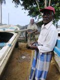 Fischen-Männer in Tangalle/in Sri Lanka Lizenzfreie Stockbilder