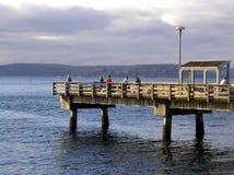 Fischen-Pier stockfotos