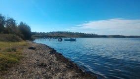 Fischen-Pier lizenzfreie stockfotos