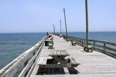 Fischen-Pier Stockbild