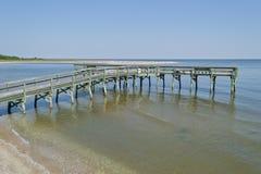 Fischen-Pier Stockfoto