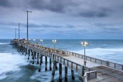 Fischen-Pier Atlantic Ocean Nags Head-North Carolina Stockfotografie