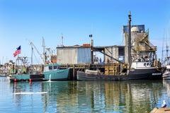 Fischen-Prozessor Westport-Grau-Hafen Washington State lizenzfreie stockfotografie