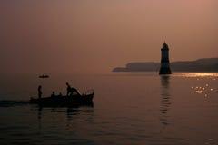 Fischen-Schattenbild Lizenzfreie Stockfotografie