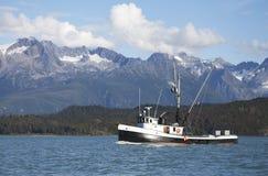 Fischen-Schleppnetzfischer in Südost-Alaska lizenzfreies stockbild