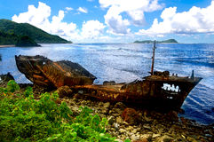 Fischen-Schleppnetzfischer-Wrack Lizenzfreies Stockbild