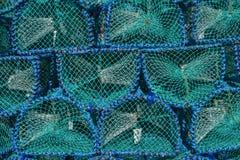 Fischen Sie Falle für Hummer- und Krabbenfischen auf Insel von Mull, abstraktes Muster, Hintergrund, Schottland Lizenzfreies Stockfoto